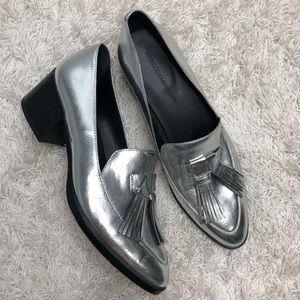 Rebecca Minkoff Metallic Silver Edie Loafer